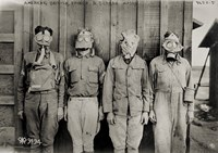 American, British, French & German Gas Masks Fine Art Print
