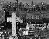 Bethlehem Graveyard and Steel Mill by Print Collection - various sizes, FulcrumGallery.com brand