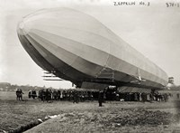 Blimp, Zeppelin No. 3, on Ground Fine Art Print