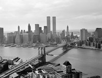 Brooklyn Bridge and World Trade Center, Lower Manhattan by Print Collection - various sizes, FulcrumGallery.com brand