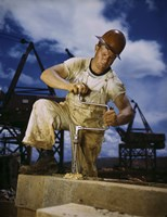Carpenter at Work on Douglas Dam, Tennessee by Print Collection - various sizes