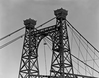 Pedestrian Suspension Bridge, Close Up by Print Collection - various sizes - $48.49