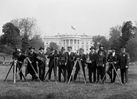 Press Correspondents and Photographers on White House Lawn Fine Art Print