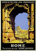 Rome Express Rome, Par le Train de Luxe Fine Art Print