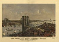Brooklyn Bridge by Vintage Apple Collection - various sizes