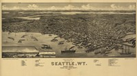 Seattle by Vintage Apple Collection - various sizes