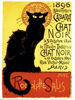Chat Noir (with text) by Theophile-Alexandre Steinlen - various sizes