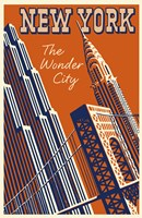 NY the Wonder City by Vintage Apple Collection - various sizes
