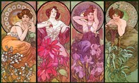 Topaz Ruby Amethyst Emeraude by Alphonse Mucha - various sizes
