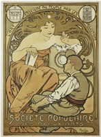 Societe Populaire by Alphonse Mucha - various sizes