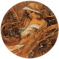 Winter Medallion by Alphonse Mucha - various sizes