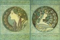 Green Medallions Fine Art Print