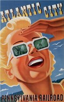 Atlantic City Sunglasses Framed Print