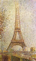 Eiffel Tower by Seurat Fine Art Print