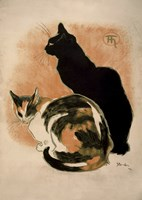 Two Cats by Theophile-Alexandre Steinlen - various sizes
