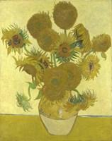 Sunflowers (yellow background) Fine Art Print