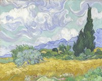 Wheatfield with Cypress Fine Art Print