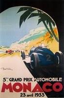 Grandprix Automobile Monaco, 1933 Fine Art Print
