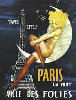 Paris Moon by Vintage Apple Collection - various sizes