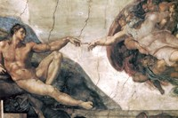 Michelangelo, Creation of man Fine Art Print