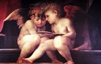 Two Redhead Cherubs by Vintage Apple Collection - various sizes, FulcrumGallery.com brand