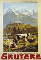 Chemins De Fer De La Gruyere, 1906 Fine Art Print