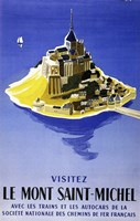 Mont Saint Michel by Vintage Apple Collection - various sizes, FulcrumGallery.com brand