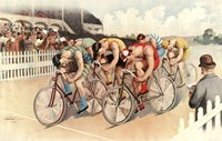 Bicycle Race Scene, 1895 Fine Art Print