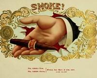 Smoke Cig Fine Art Print