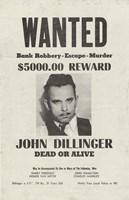 John Dillinger Wanted Poster Fine Art Print