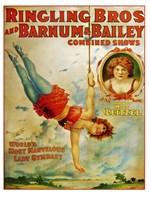 Miss Lietzel Barnum Bailey Fine Art Print