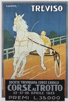 Treviso Horse Racing by Vintage Apple Collection - various sizes