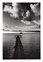 "Jetty of Atiapiti, Raiatea, French Polynesia by Alexis De Vilar - 28"" x 39"""