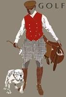 Bulldog Golf Fine Art Print