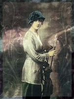 Pretty Golf Girl by Vintage Apple Collection - various sizes