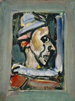 Profile Of A Clown by Goerges Rouault - various sizes, FulcrumGallery.com brand