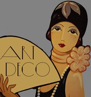 Art Deco Flapper Fine Art Print