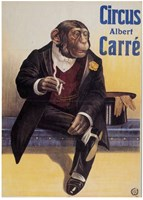 Carre Circus Chimp Framed Print