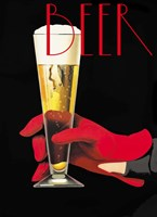 Red Glove Beer Fine Art Print