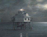 Moonlight At Middle Bay Light by David Knowlton - various sizes