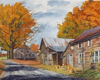 October Country Drive Fine Art Print