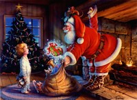 Twas The Night Before Christmas Fine Art Print
