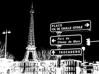 Photograph of street signs in Paris - Black - various sizes