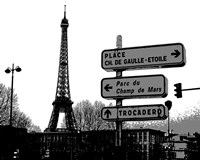 Photograph of street signs in Paris Fine Art Print