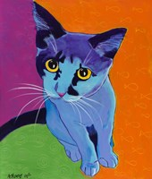 Kitten Blue Fine Art Print