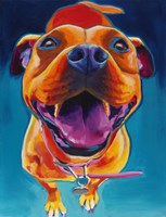 Pittie Party by DawgArt - various sizes, FulcrumGallery.com brand