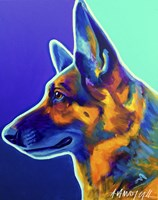 German Shepherd Schatze Fine Art Print