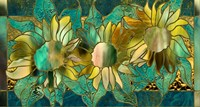 Verdigris Sunflower by Mindy Sommers - various sizes, FulcrumGallery.com brand