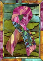 Breast Cancer Ribbon Fine Art Print