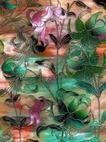 Aqua Sky Lillies by Mindy Sommers - various sizes